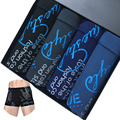 Cueca Boxer Cotton Underwear Men Boxers Shorts Men Calzoncillos Hombre Marca Algodon Sexy Men Ondergoed Printed Cuecas 4pc/lot