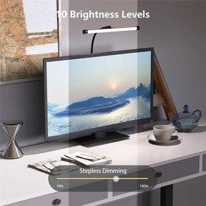 Image 4 - 책상 램프 LED 유연한 구즈넥 클램프 암 도면 조명 10 밝기, 3 색 모드, 5W 피아노 머리판 회의
