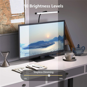 Image 4 - โคมไฟตั้งโต๊ะLEDแบบยืดหยุ่นGooseneck Clampแขนร่างตาราง10ระดับความสว่าง,โหมด3สี,5Wเปียโนหัวจัดการประชุม