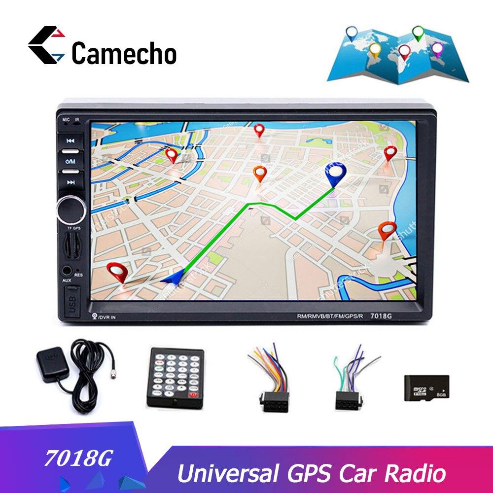 Camecho 2din Car Stereo Multimedia Player GPS Navigaiton Camera Map 7 HD Touch Screen Bluetooth Autoradio