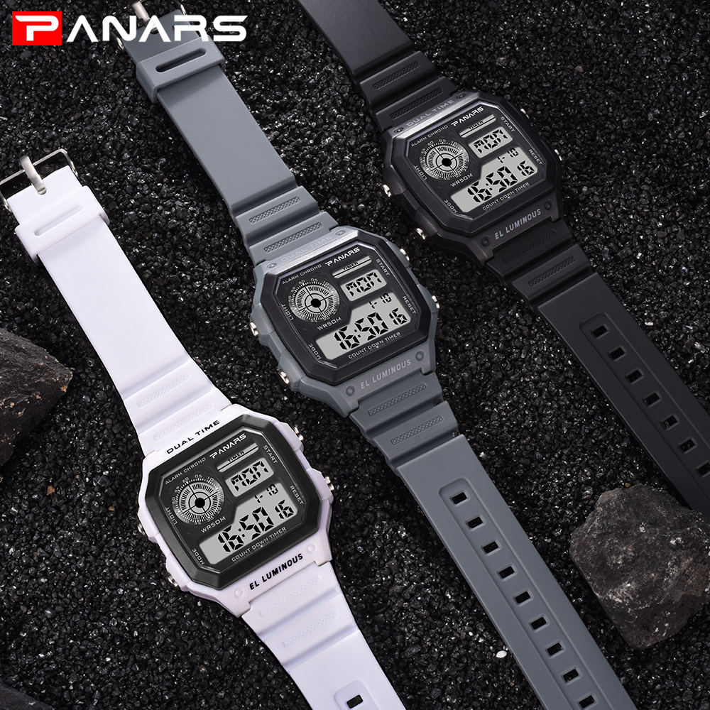 c2d731428e PANARS Fitness Watch Men Digital Waterproof G Electronic Led Watch ...