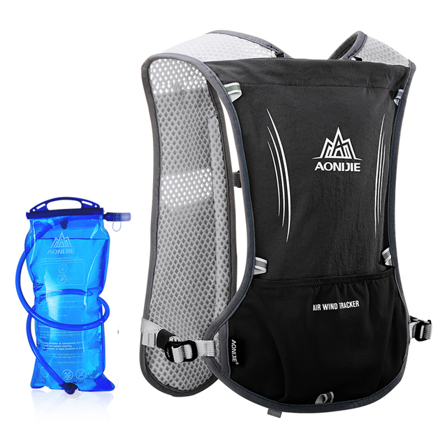 AONIJIE Men Women Lightweight Running Backpack Outdoor Sports Trail Racing Marathon Hiking Hydration Vest Pack 1.5L Water Bag