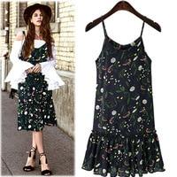 Simplee Vintage Summer Dress Women Sundress Ladies Boho Floral Print Maxi Dress 2017 Beach Dress Strappy