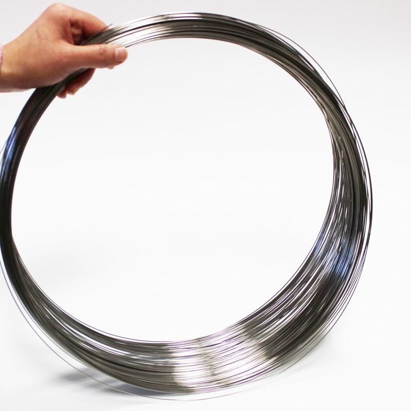 Пружинная проволока из нержавеющей стали 2 м, Диаметр 0,3 мм/0,4 мм/0,5 мм/0,6 мм/0,7 мм/0,8 мм/0,9 мм/1 мм/1,2 мм/1,3 мм