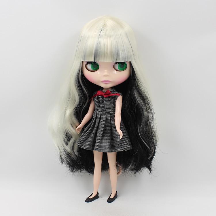 จัดส่งฟรีน่ารัก DIY Neo ตุ๊กตาบลายธ์ตุ๊กตาสีดำและสีขาวยาวผม Bangs BLYTH ตุ๊กตาสำหรับขาย-ใน ตุ๊กตา จาก ของเล่นและงานอดิเรก บน   3