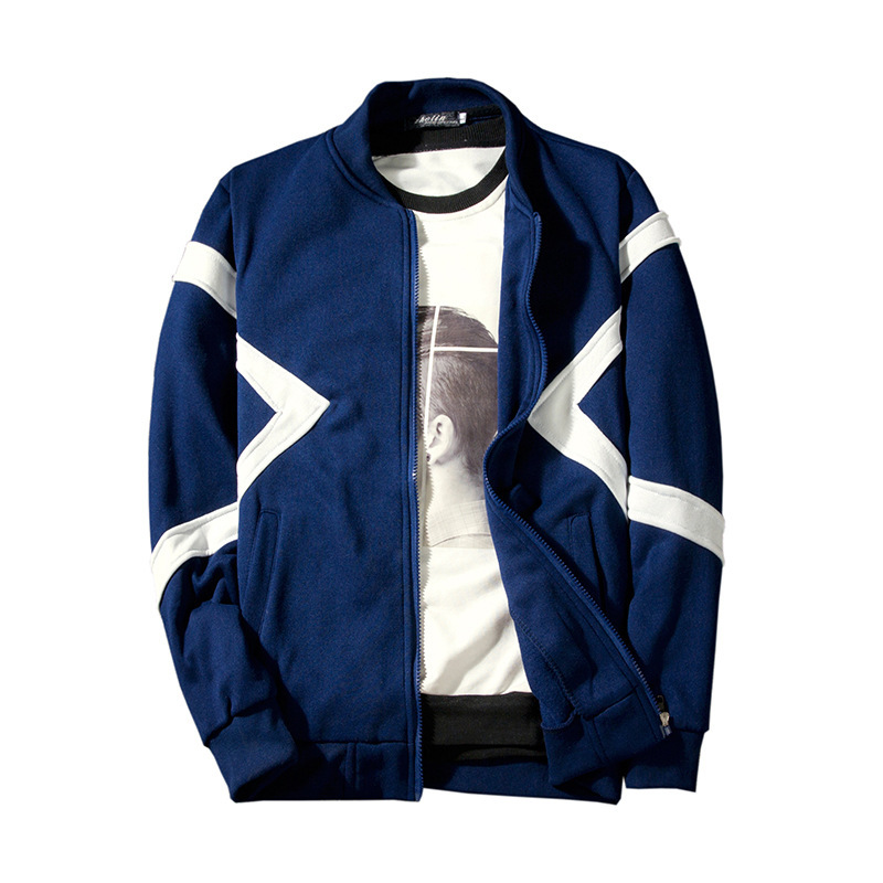 Mens jacket New fashion collar zipper hoodies streetwear cardigan men