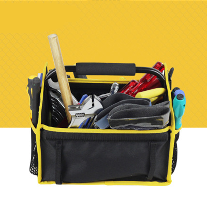Oxford Cloth Electrician Tool Bags Thicken Hardware Professional Electrician Repair Storage Work Bag Holder Close Top Wide MouthOxford Cloth Electrician Tool Bags Thicken Hardware Professional Electrician Repair Storage Work Bag Holder Close Top Wide Mouth