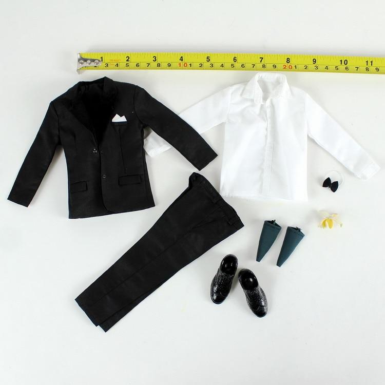 1/6 Special Agent Spy Suit Costume Clothes Set for 12