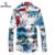 SHANBAO hombres Camisa Floral Camisa Ocasional Delgada de la Manera Más El Tamaño M ~ 5XL Negocio Marca Hombre Largo-Impresa Camiseta de manga larga blanco