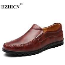 Men's Leather Shoes High Quality Fashion Driving Shoes Casual Oxfords Formal Loafers New Luxury Brand Moccasins Zapatos Hombre