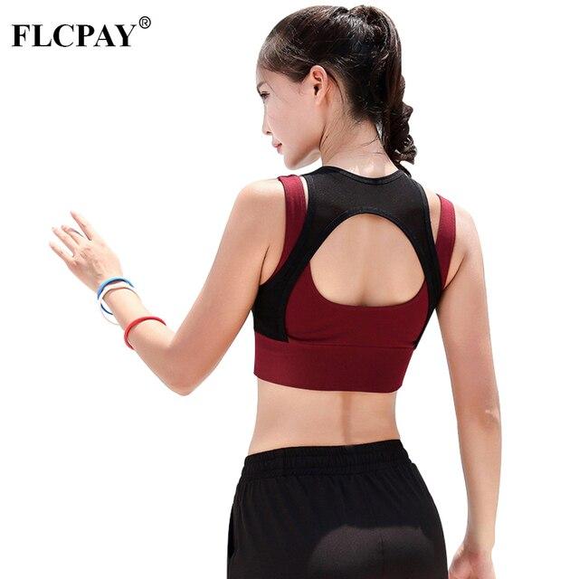 Women Sport Bra Breathable Mesh Shockproof Gym Bra Top Wireless Spacked  Shoulder Strap Workout Women Fitness a7be2d13c