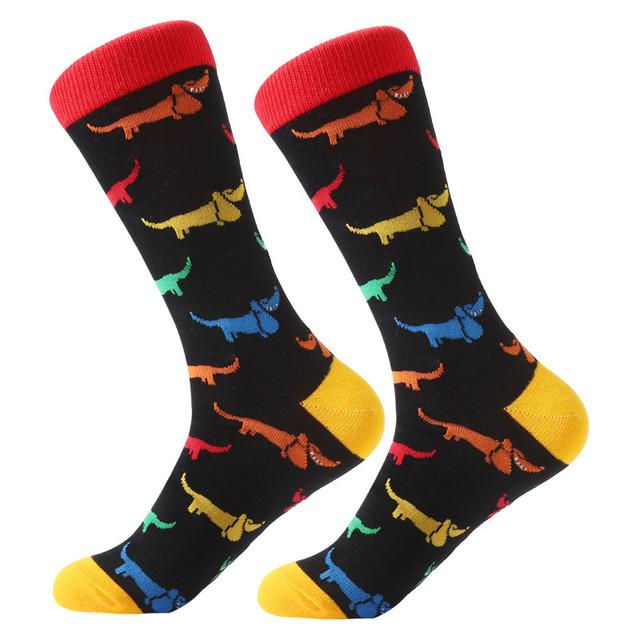 Mens/Women socks animal alien chili Moustache sloths Novelty Sock combed cotton
