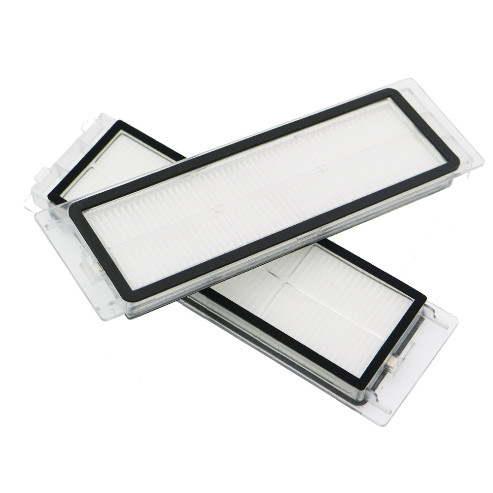 2Pcs Robotic Vacuum Cleaner robotic parts Pack HEPA Filter for xiaomi mi Robot Filters cleaner accessories 2pcs dust hepa filter sponge filters for ilife x750 v8 v8s robot robotic vacuum cleaner spare parts accessories