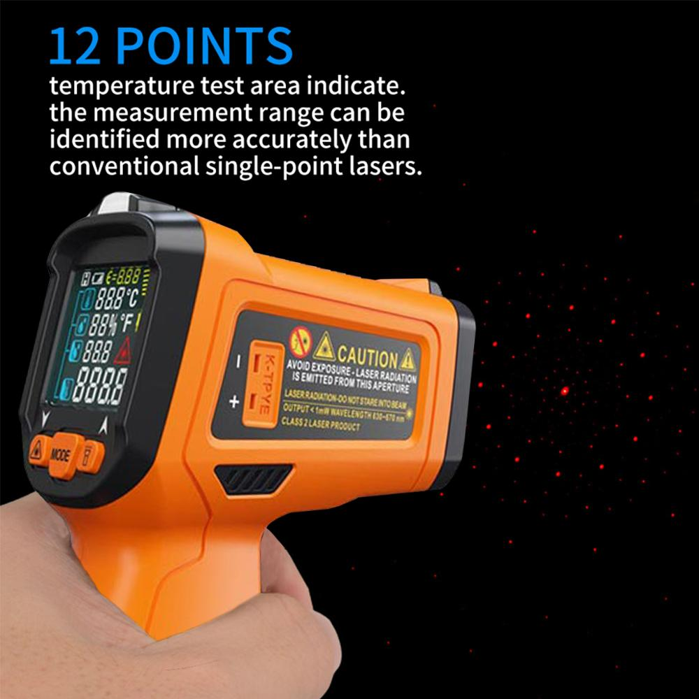 Image 5 - PM6530D digital laser infrared thermometer hygrometer K type UV  light electronic temperature sensor humidity meter pyrometerTemperature  Instruments   -