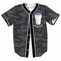 Xícara de chá é acesa nos botões de tamanho jérseis de basebol new hip hop streetwear homme 3d camisa impressão marca clothing