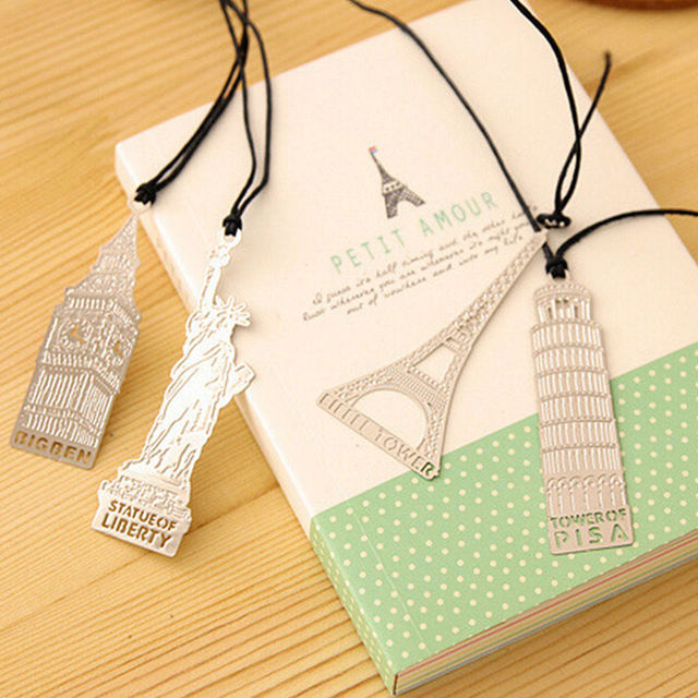 Elizabeth Eiffel Tower Statue Of Liberty Metal Book Markers Bookmark For Books Paper Clips Office Supplies