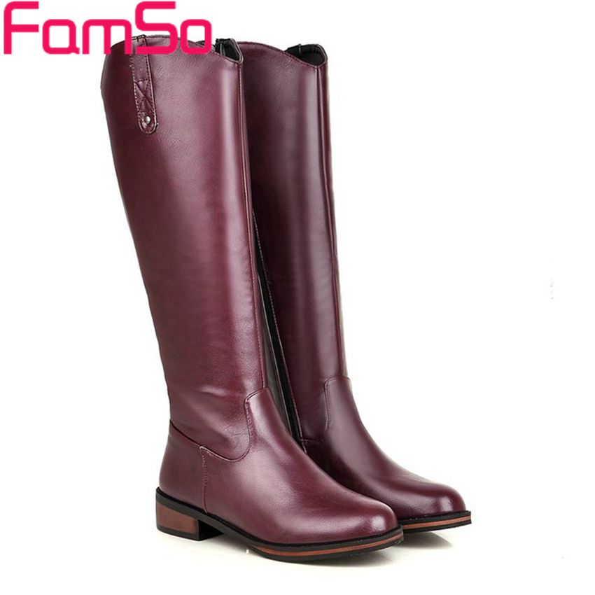 Plus Size34 43 2016 New Fashion font b Women b font Boots Black Spring High Quality