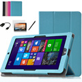 High Quality Leather Case Cover For Onda V891w 8.9 inch Tablet Magnetic Folio Case Flip Stand Cover + Screen Protectors