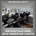 55 Вт 7 inch 24 В H3 лампы 4300Lm спрятал работы лампы HID вождения фары HID ксеноновая лампа HID прожектор с внутренней тонкий балласта KR7553