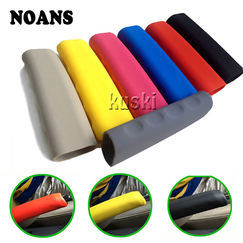 NOANS Silicone Car Handbrake Hand Brake Grips Covers For Mitsubishi Lancer Asx Ford Focus 2 3 Mk2 Ranger Mondeo Mk4 BMW X5 E53