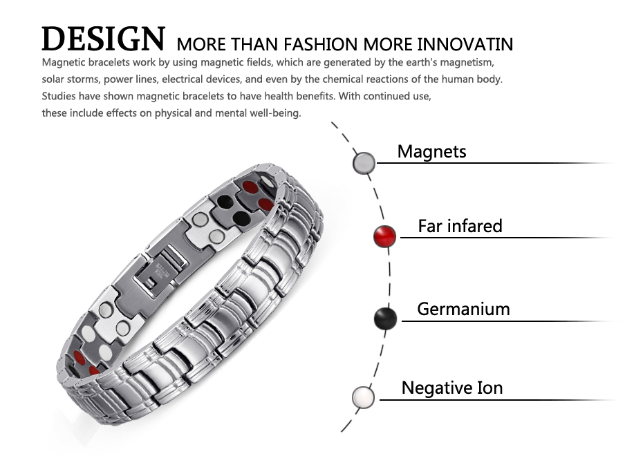 Welmag двухрядные элементы здравоохранения магнитный браслет