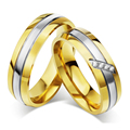 1 Pair Vintage Ring Gold Color Titanium Steel Wedding Rings For Women Men Jewelry Anel Masculino Anillos Bague Size 5-13# XSF005