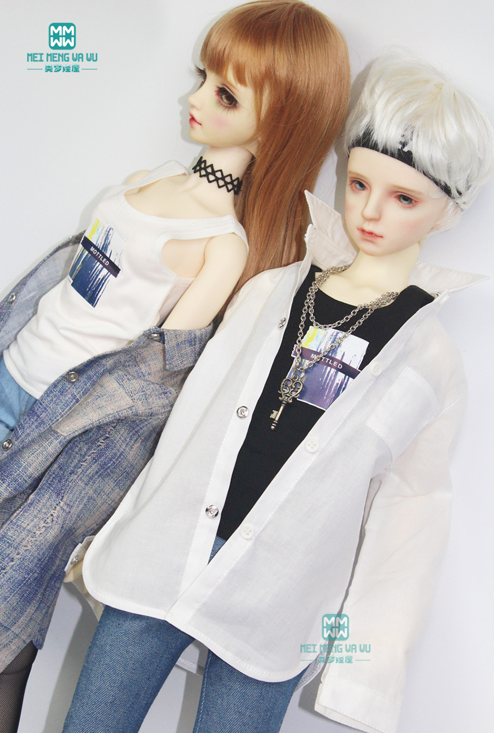 BJD Accessories Doll Clothes For 1/3 BJD DD Doll Fashion Fashion Boyfriend Shirt, Vest