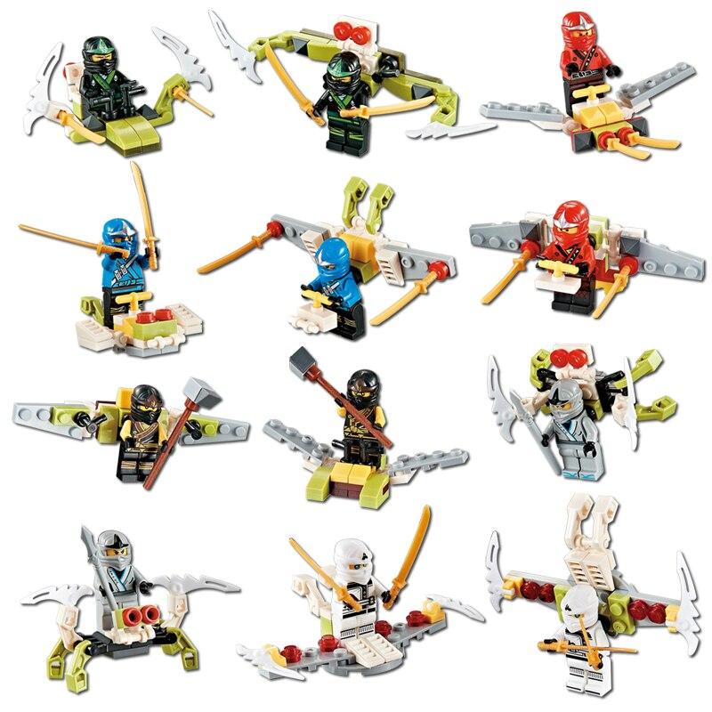 6pcs/set NINJA Heroes Lloyd Playmobil Flying Apsaras With Weapons Action Toy Figure Blocks Compatible LegoINGlys NinjagoINGlys