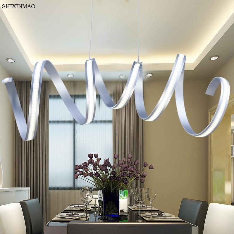 Gratis verzending Ring dimmen led eetkamer woonkamer kroonluchter eenvoudige moderne persoonlijkheid creatieve art lampen 90 260 V