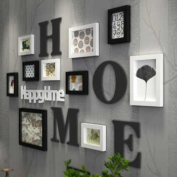 Solid Wood Large Picture Frames Modern Living Room Fashion Painting Photo Frame Set Wooden Letter Home Wall Decoration DIY - DISCOUNT ITEM  30% OFF All Category
