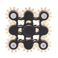 Nine 9 Gears Hand Spinner Made Metal Fantastic EDC Hand Spinner Torqbar Brass Fidget Spinner For