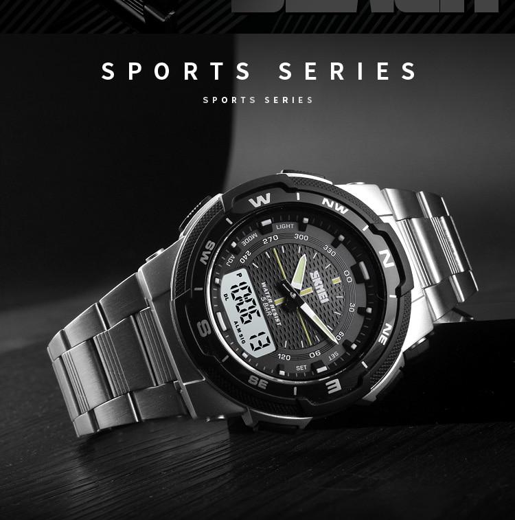 SKMEI 1370 Stainless Steel Waterproof Wrist Watch 6