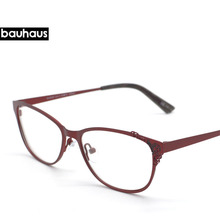 bauhaus 2017 France New Design Women Metal Hollow Out glasses Vintage Retro Lace Flower glasses Fashion Brand original frames