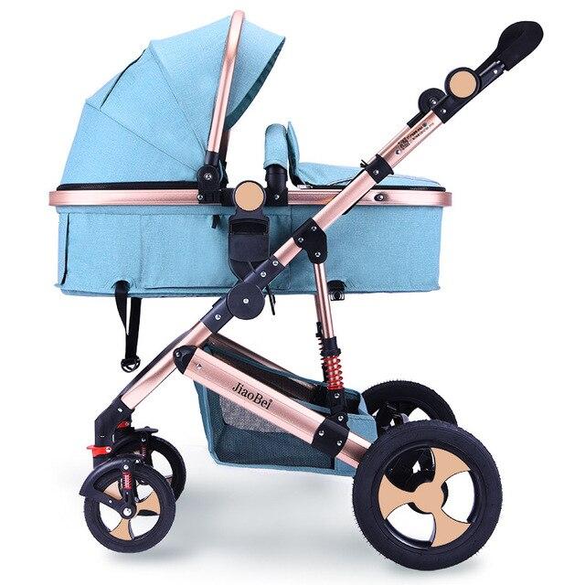 Baby Stroller 3 In 1 High Landscape Baby Stroller Newborn Baby Car Seat Cradle Baby Carriage Travel System Car Seat Stroller 1