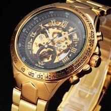 2016 Caso Royal Golden SEWOR Esqueleto de Acero Inoxidable Reloj Masculino Mecánico Automático Para Hombre Relojes de Primeras Marcas de Lujo Montre Homme