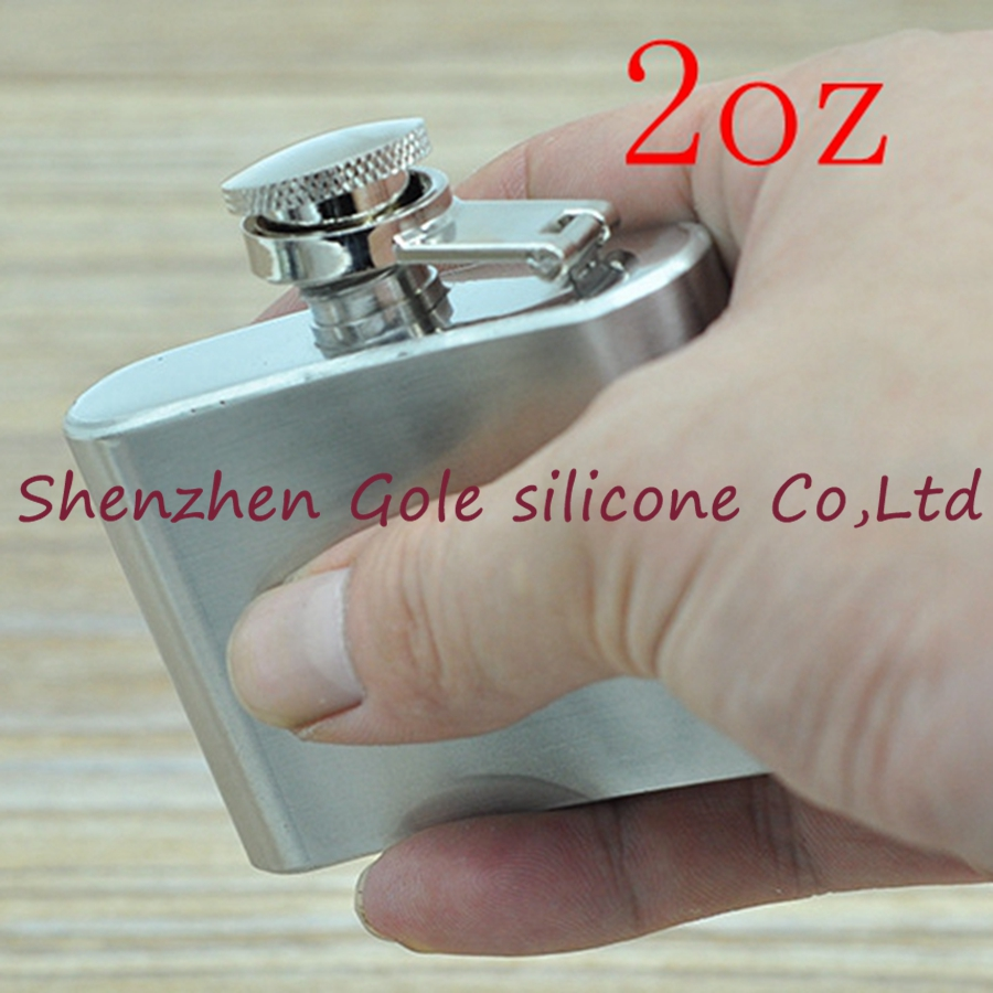 200pcs 2oz Stainless Steel Pocket Flask Russian Hip Flask Male Small Portable Mini Shot  ...