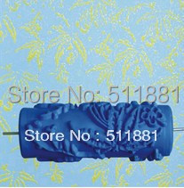 [ Maple Leaf pattern] <font><b>5</b></font>'' blue Soft rubber stamp printing <font><b>roller</b></font> | 125mm printing <font><b>roller</b></font> brush <font><b>paint</b></font> <font><b>roller</b></font> FREE shipping image