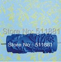 Maple Leaf Pattern 5 Blue Soft Rubber Stamp Printing Roller 011Y 125mm Printing Roller Brush