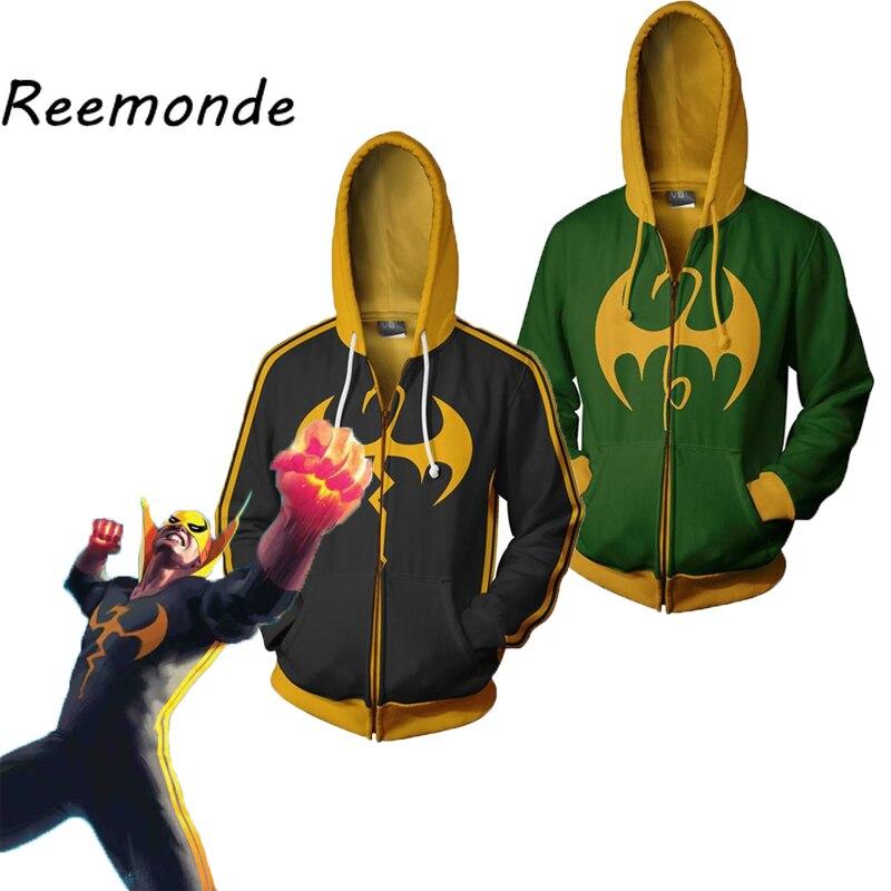 Mens Clothes Streetwear Iron Fist Clothes Costumes Superman Superhero Hoodies Coats Tops Jackets Daniel Thomas Clothing