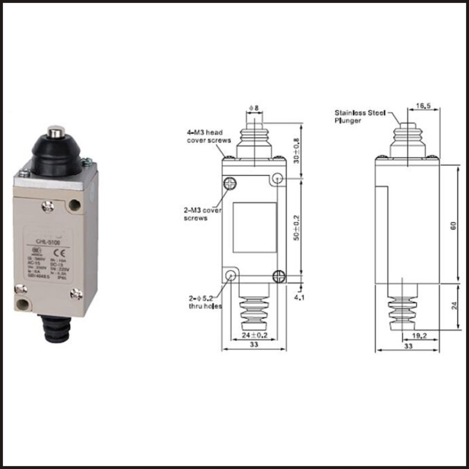 switch travel omron limit switch 10a 250v electrical safety key interlock switch compact prewired micro [ 950 x 950 Pixel ]