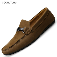 2019 spring men's shoes casual loafers slip-on breathable man genuine l