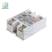 Dissipateur thermique en alliage blanc, relais à semi-conducteurs, 3-32V DC à 24-380V AC SSR 40DA