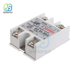 SSR-40DA Solid State Relay White Alloy Heat Sink 3-32V DC to 24-380V AC SSR 40DA