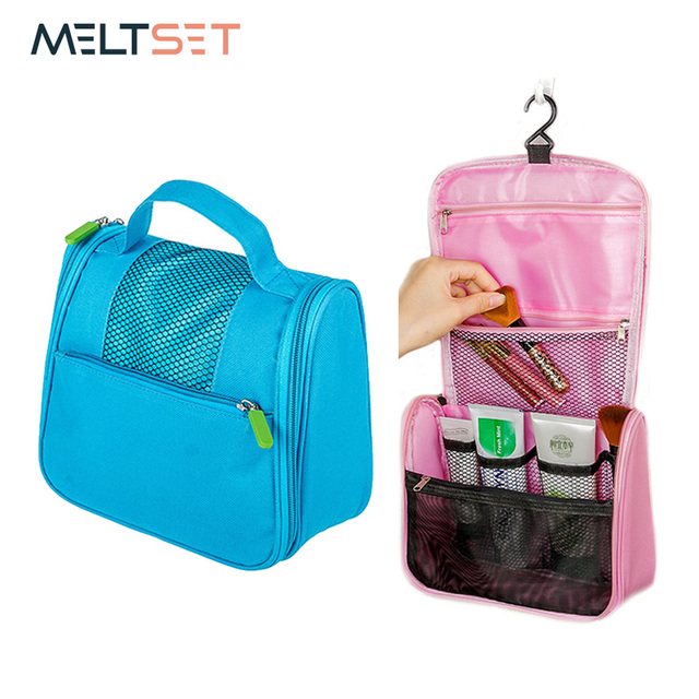 90cbe53846 Oxford Travel Cosmetic Storage Bag Women s Toiletry Makeup Hanging Bag  Organizer Portable Wall Door Hanging Case