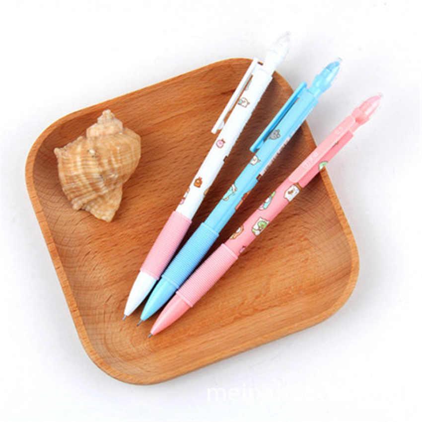 30 unids/lote Kawaii esquinero automático lápiz mecánico con borrador escuela Oficina suministro estudiante papelería regalo 0,5mm