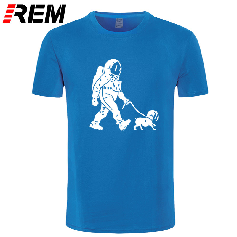 REM The Walking Dead T shirt men SpaceX Spaceship tshirt Astronaut Dog Cool T-shirt Rocket tshirt homme StarmanX Space dog Tees 4