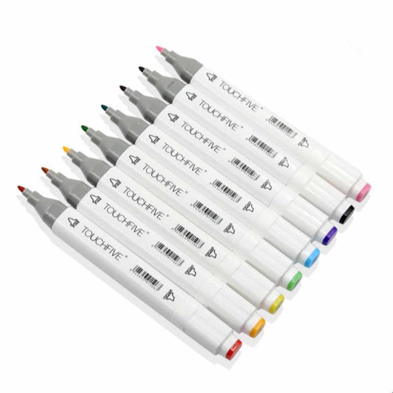 TOUCHFIVE опционально цвет соответствия искусство маркеры Кисть ручка эскиз на спиртовой основе маркеры двойная головка манга ручки для рисования товары для рукоделия