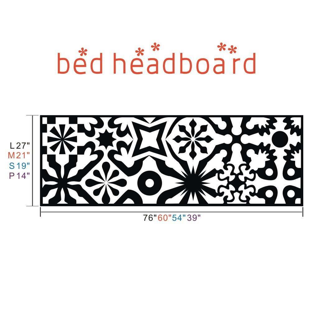 Quilted headboard wall decal vinyl art wall sticker bed decoration quilted headboard wall decal vinyl art wall sticker bed decoration beautifl art bedroom decal 39h x 14w in wall stickers from home garden on amipublicfo Images