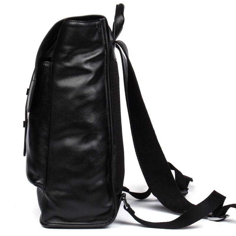 Cuir Black Dos Voyage En À Noir Preppy Portable Hommes Véritable Pour Voleur Anti Style 14 D'école Sacs Mode Sac Adolescent Danjue