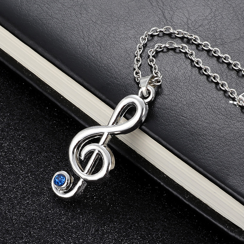 High Quality Jewelry musical note Necklace For Lover Gift Musical note Rhythm Fashion Women Long Necklace Jewelry Gifts in Pendant Necklaces from Jewelry Accessories